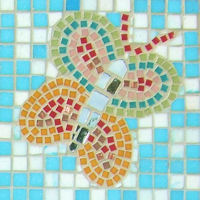 Butterfly on Mosaic